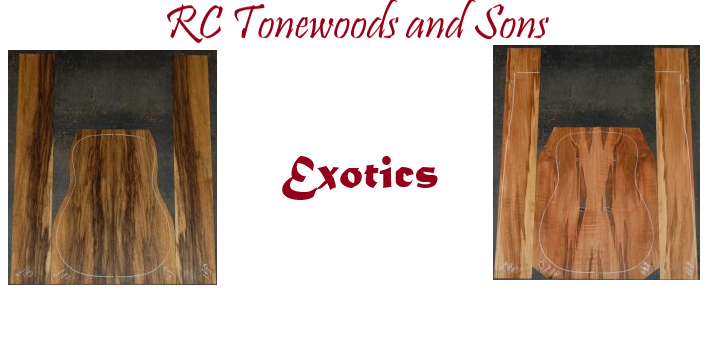 RC Tonewoods, Domestic, Exotic Tonewoods and Luthier Supply